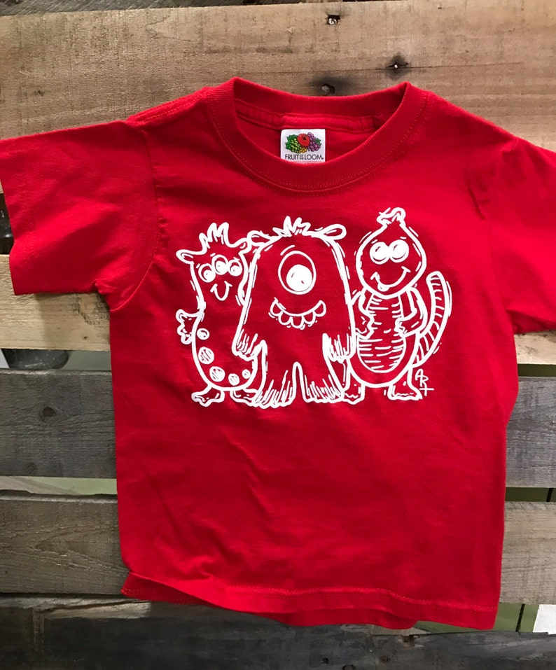 Monster Shirt Red Monster T-Shirt CLEARANCE SALE Gifts for image 0