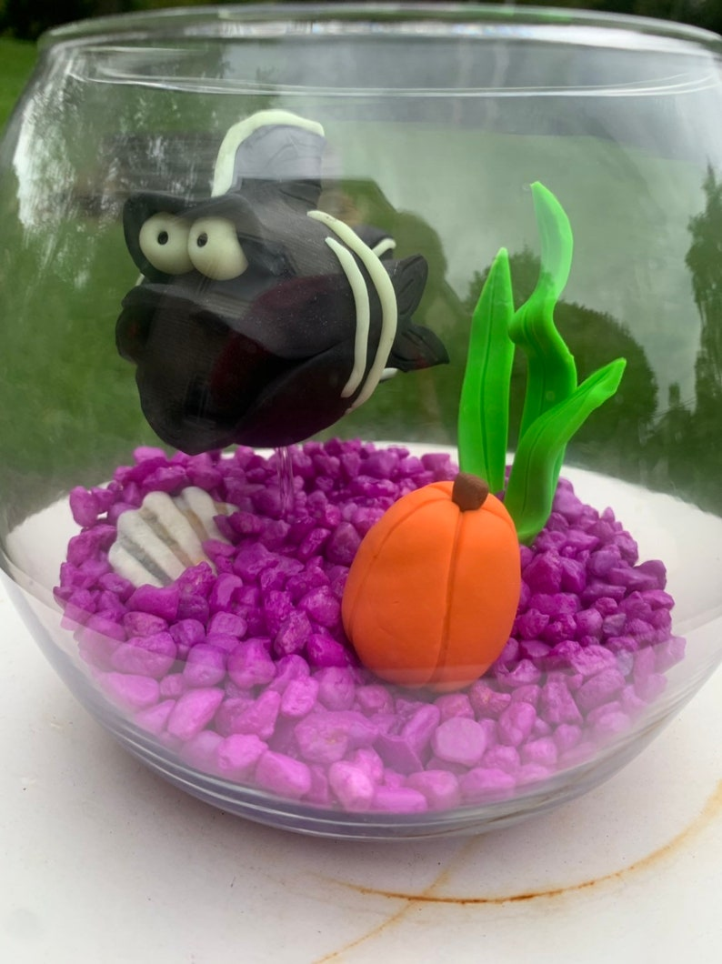 Halloween Fish Bowl Skeleton Fish Halloween Decor Fish image 0