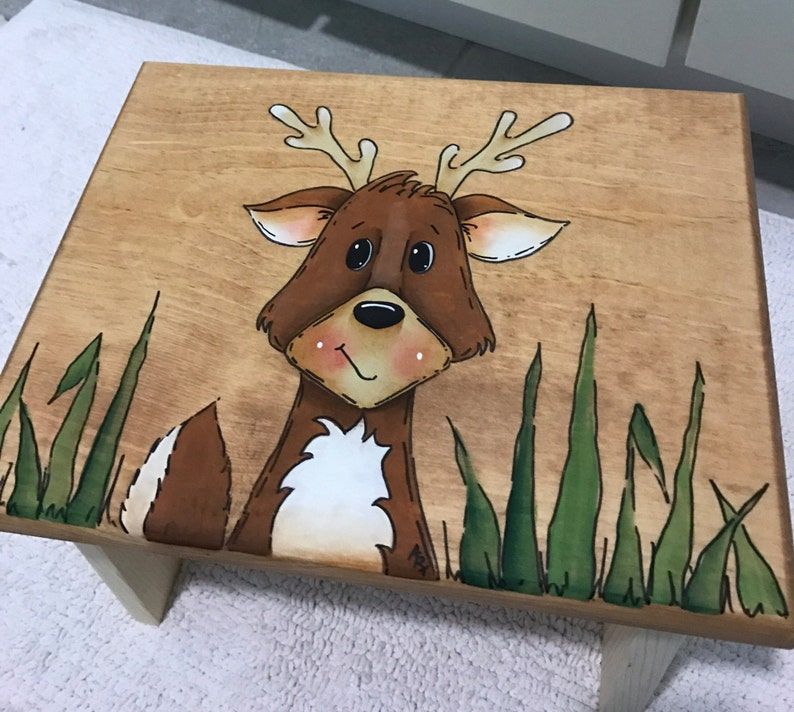 Step Stool Deer Step Stool Wildlife step stool kids foot image 0