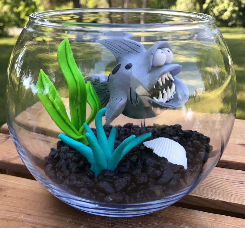 Shark Fish Bowl Shark Tank Shark in Bowl Pet Fish Large image 0