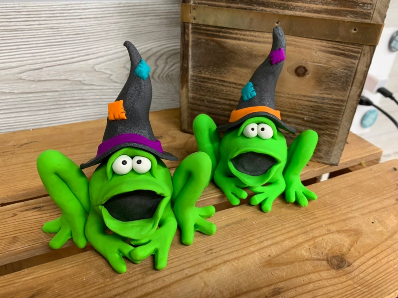 Halloween Frog Halloween Decoration Frog Witch image 0