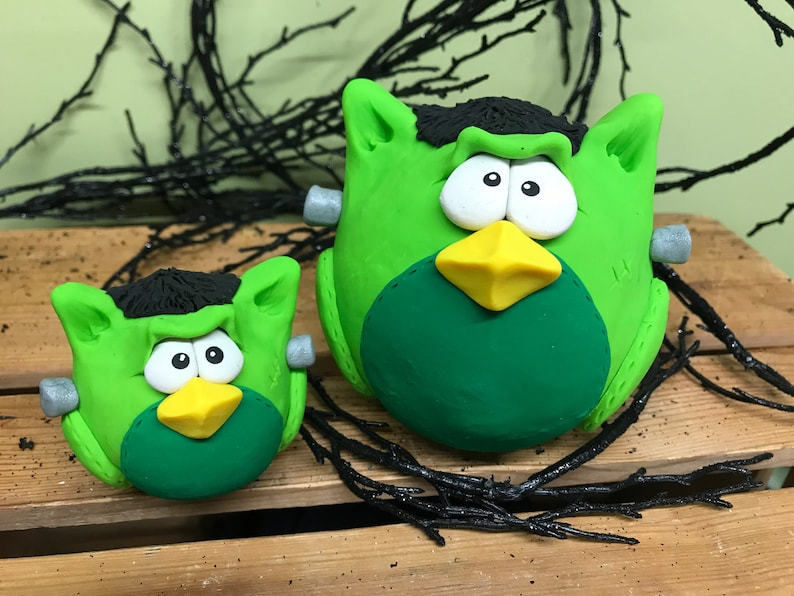 Frankenstein Owl Halloween Owl Halloween Owl Decoration image 0