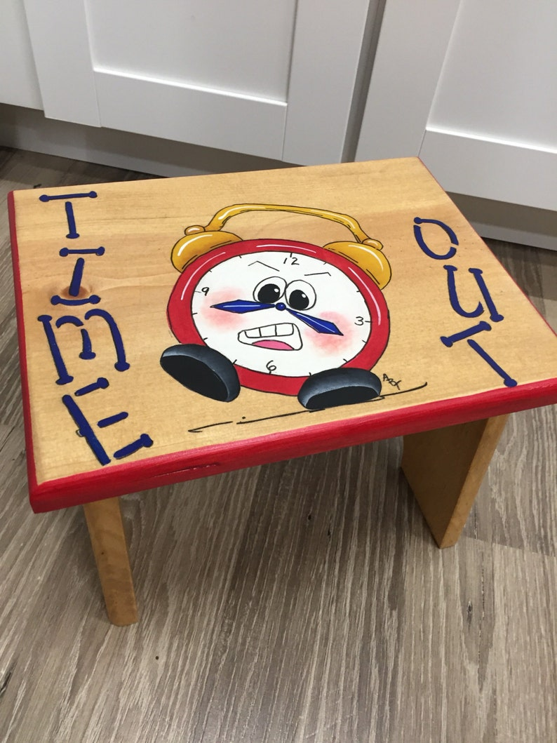 Time Out Stool Kids Stool Step Stool Time Out Clock image 0