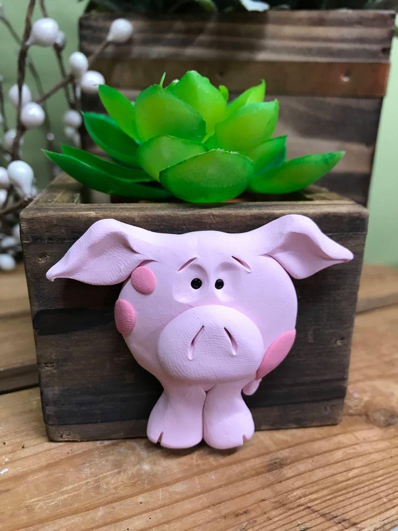 Planter Succulent Planter Pig Planter Business Card Holder image 0
