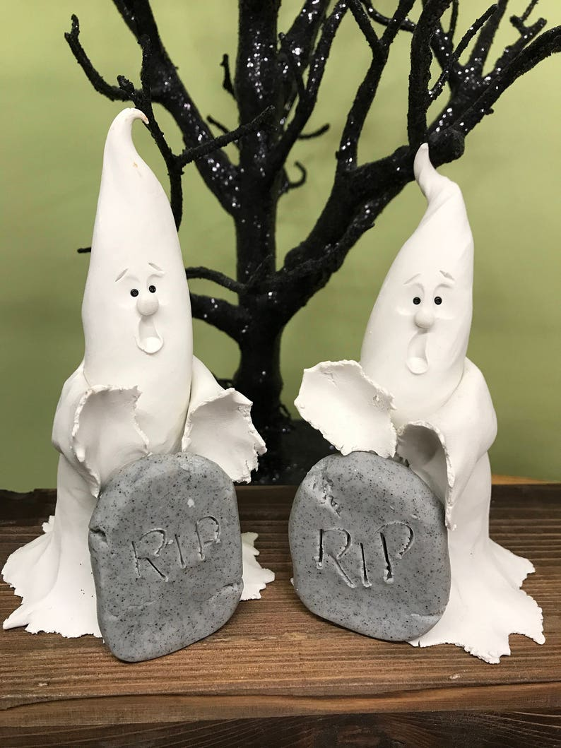Ghost at a Tombstone Halloween Ghost Ghosts at Grave Ghost image 0