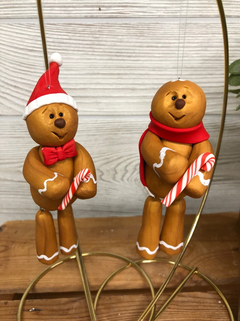 Gingerbread Man Ornament Gingerbrean Man Handmade Ornaments image 0