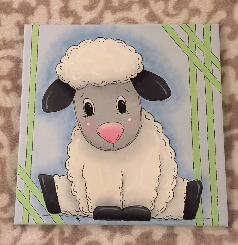 Lamb Painting on Canvas image 0