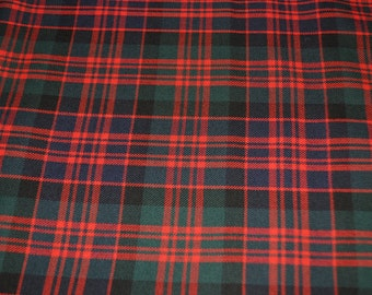 MacDonald Clan Modern tartan fabric. Poly viscose. Machine Washable. Price  per half metre. 97a47e45f