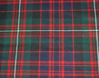 MacDonald of Glengarry Modern Tartan Fabric. Soft 10oz pure new wool. Price  per half metre. 15de734f2