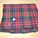 Macdonald Clan Modern Baby Kilt, 6-12m, Polyviscose, machine washable. Handmade in Scotland