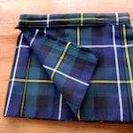 MacNeil Hunting tartan Baby Kilt, Various Sizes available , Poly viscose, Machine washable. Handmade in Scotland.