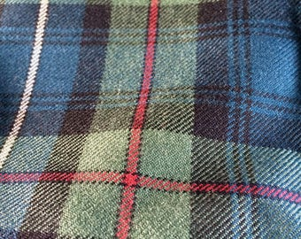 Robertson Tartan. 100% 10oz Pure New Wool. Remnant Piece. Robertson Muted  available