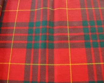 Cameron Clan Tartan Fabric. 100% 10oz Pure New Wool. Remnant Piece. Modern available. Woven in Scotland.