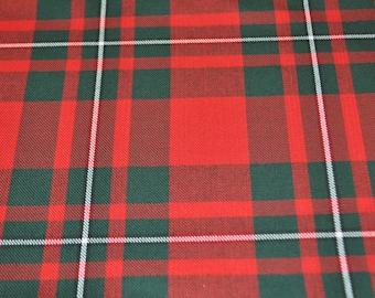 MacGregor Modern Tartan Fabric. Soft Poly viscose. Machine Washable.  Price per half metre.