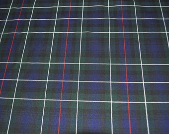 MacKenzie Modern tartan fabric. Poly viscose. Machine Washable. Price per half metre.