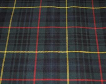 Stewart Hunting Modern tartan fabric. Poly viscose. Machine Washable. Price per half metre.