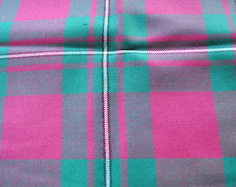 MacGregor tartan Fabric. 100% 8oz Pure New Wool. Remnant Piece. Hunting Ancient Available. Woven in Scotland.