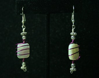 """Cute """"Peppermint"""" Wire-Wrapped Earrings"""