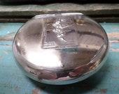 Antique South Africa WMF Silver Plated Snuff Box Tobacco The Cape Peninsula t684