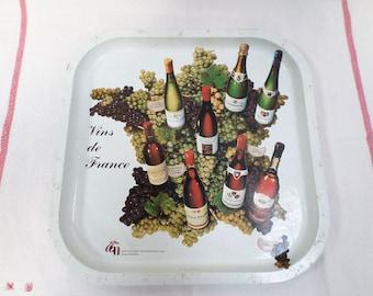 Genuine French Bistrot Tin Tray Wine 70s w876
