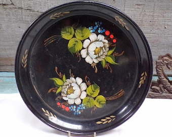 French Antique Medal Tray Hand Painting early 1900 s190