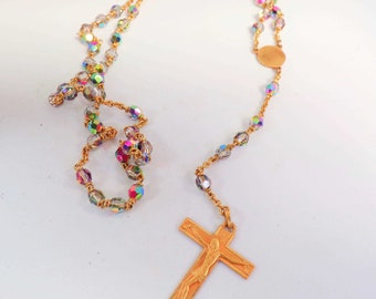 Vintage French Rosary Pendant r66