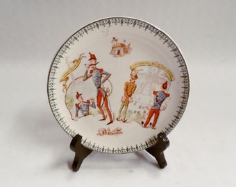 French Antique Terre de Fer Choisy Le Roi Faience Plate Trocadero c1880 v704