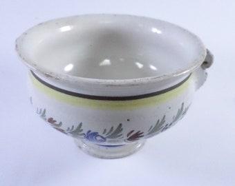 Rare Antique HB Quimper Faience Pot 1800s t01