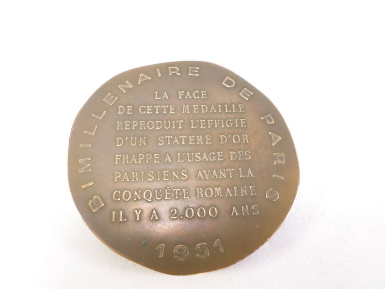 Bronze Medal Statere for the bimillenium of Paris 1951 t262