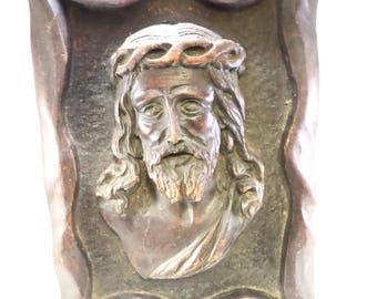 French Religious Art Sculpture of Jesus Christ signed Jean Le Paranthoen (1914-2000) w642