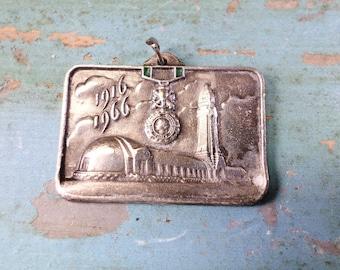 French Souvenir Medal Of WW1 Verdun Military medal decoration 1916-1966 t603