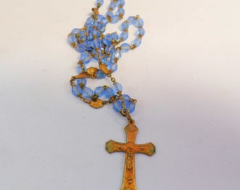 Vintage French Rosary Pendant r68