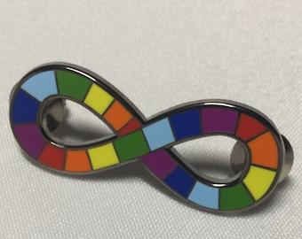 Neurodiversity Pride Infinity Rainbow Enamel Pin Brooch Autism Autistic