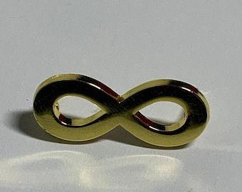 Mini Autistic Pride Infinity Gold Enamel Pin Brooch Autism Neurodiversity 1 inch