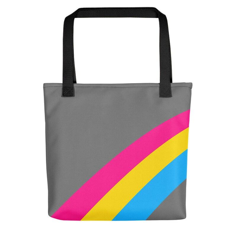 Pansexual Rainbow Flag Striped Stripes Tote Bag