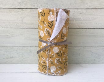 Unpaper towels, reusable paper towels, cloth paper towels, snapping paper towels - Woodland Cotton  // gift // kitchen // eco friendly