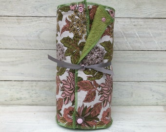 Unpaper towels, reusable paper towels, cloth paper towels, snapping paper towels - Mums and Leaves