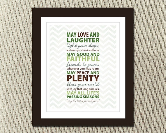 Irish Blessing May Love And Laughter Light Your Days 60x60 Etsy Unique Irish Proverbs About Love