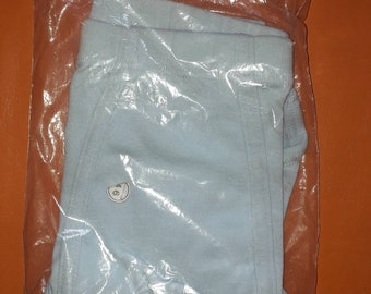 Unworn Vintage Men's Underwear 1970s Light Blue Briefs 100% Cotton NIP German Rockabilly sz 7 L