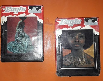 2 Unused Vintage 1970s 8 Track Tapes Sealed Soul Train and Disco Action Eagle Music USA Great Graphics OVP