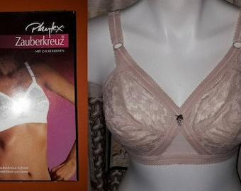 Deadstock Vintage Bra 1960s 70s Beige Lace Playtex Cross Your Heart Bra Unworn NIB Zauberkreuz EUR 75C 80B or 90C