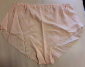 Vintage 1930s Panties Light Pink Silk Rayon Tap Pants Italy Art Deco M