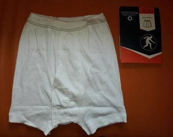 Unworn Vintage Men's Underwear 1960s Long Leg Briefs 100% Cotton Pfeilring German Rockabilly sz 5 S M