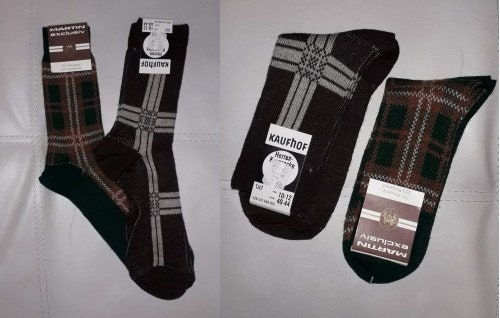Vintage Mens NOS Brown Stretch Nylon Dress Socks Gold Toe Adams Rib Mens Hosiery Vintage Brown Ribbed Dress Socks