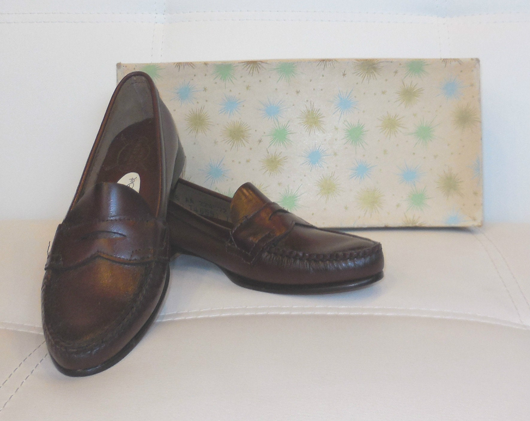 Deadstock Vintage 1950s Penny Loafers Oxblood Red Brown ...