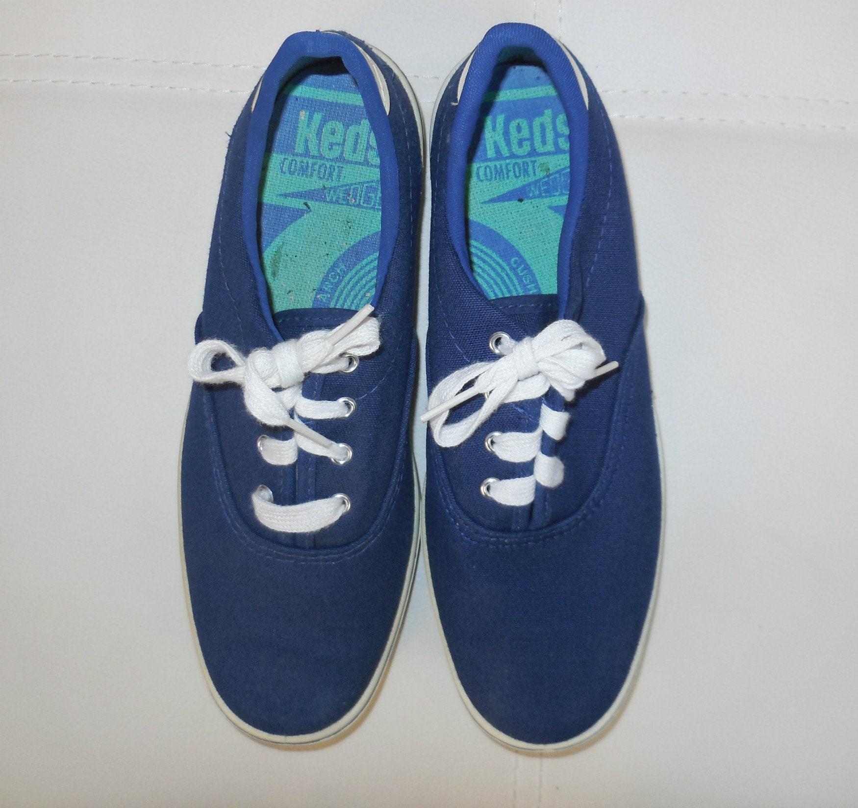 6c5747ec30f78 DEADSTOCK Vintage 1960s Keds Sunfish Tennis Shoes Sneakers Navy Blue ...