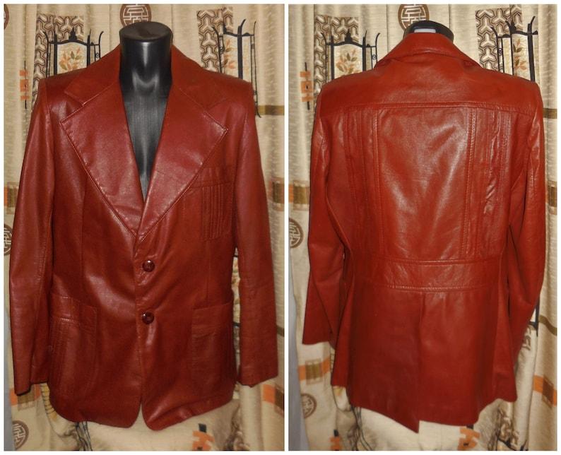 c85d7ce8a4e Men's Leather Jacket Vintage Designer Nino Cerruti Rue   Etsy