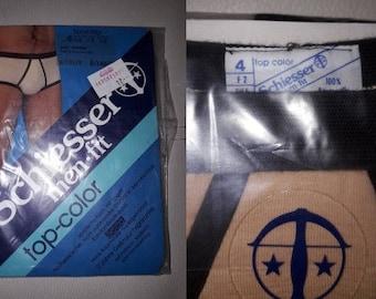 DEADSTOCK Vintage Men's Underwear 1970s 80s Brown Beige Briefs 100% Cotton Schiesser Top Color German Boho 4 S waist to 29 in.