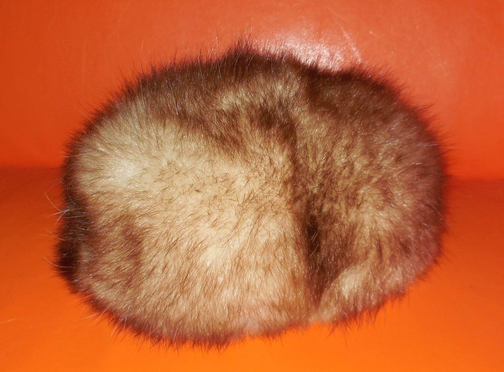 0b1dcc19919 SALE Vintage Fur Hat 1960s 70s Fluffy Possum Fur Hat Bubble Hat Pouf Hat  Cream Brown Apres Ski Hat Mod Boho Fur Hat 22 in 56 cm