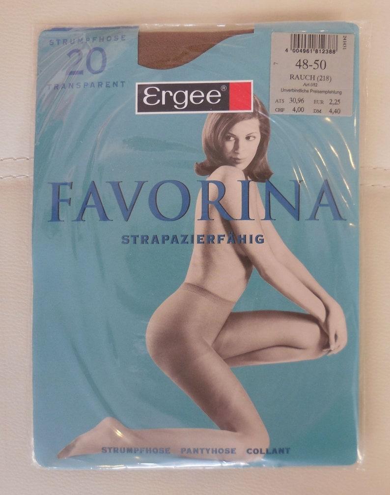 DEADSTOCK Vintage Pantyhose Three Pair 1980s early 90s Unworn German Ergee 20 Denier Transparent Strumpfhose Natur Makeup Color XL XXL 48 50